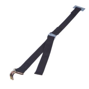 Sangle en polyéthylène avec boucle à came et couture d'arrêt, deux crochets et rondelle